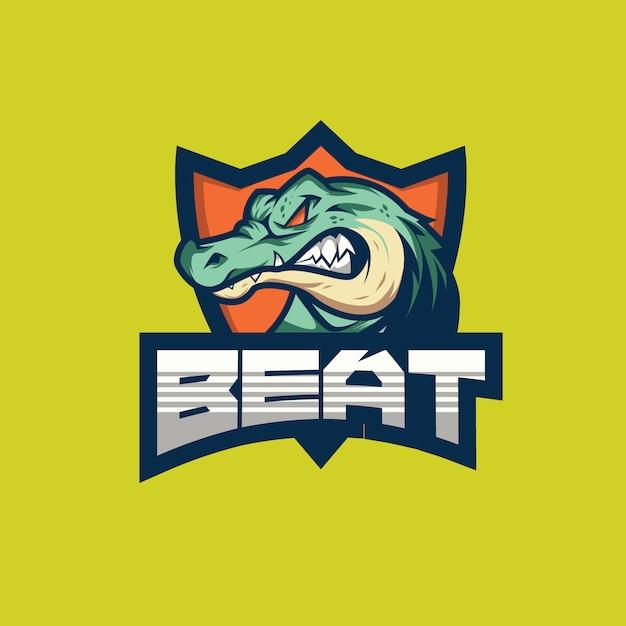 Beat e sports logo Vecteur Premium