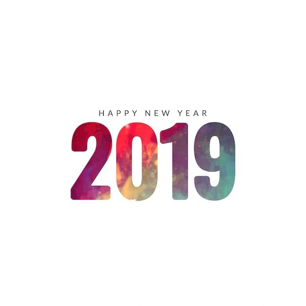 Beau fond de bonne année 2019 Vecteur Premium