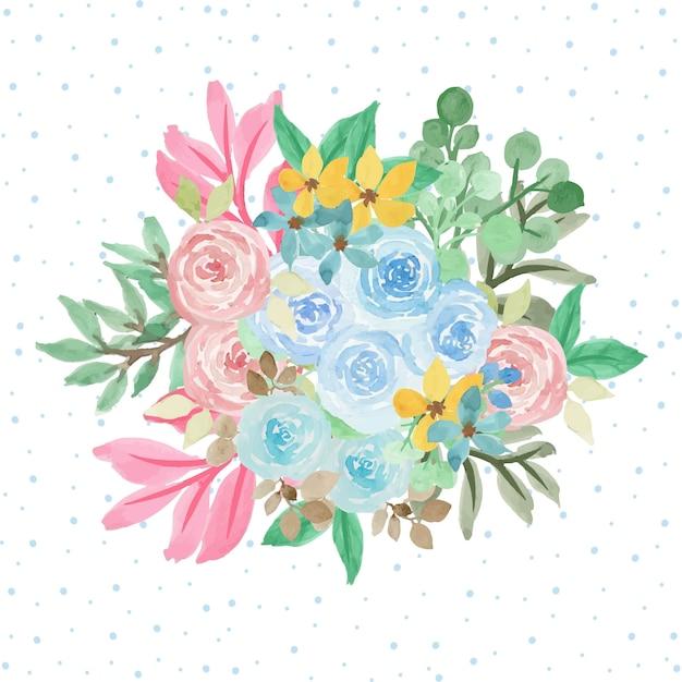 Beau fond de bouquet floral Vecteur Premium
