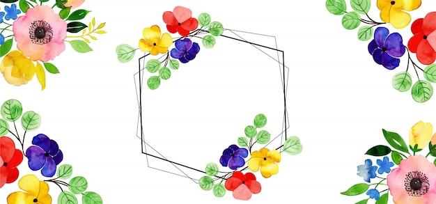 Beau fond floral aquarelle Vecteur Premium