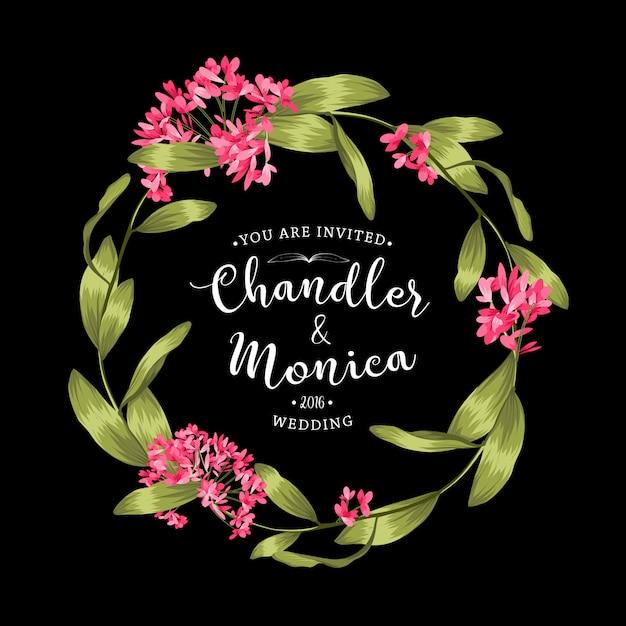 Beau fond floral. elément de design ou carte d'invitation Vecteur gratuit
