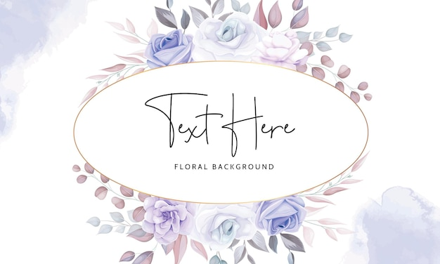 Beau Fond Floral Avec Des Fleurs Violettes Douces Vecteur gratuit