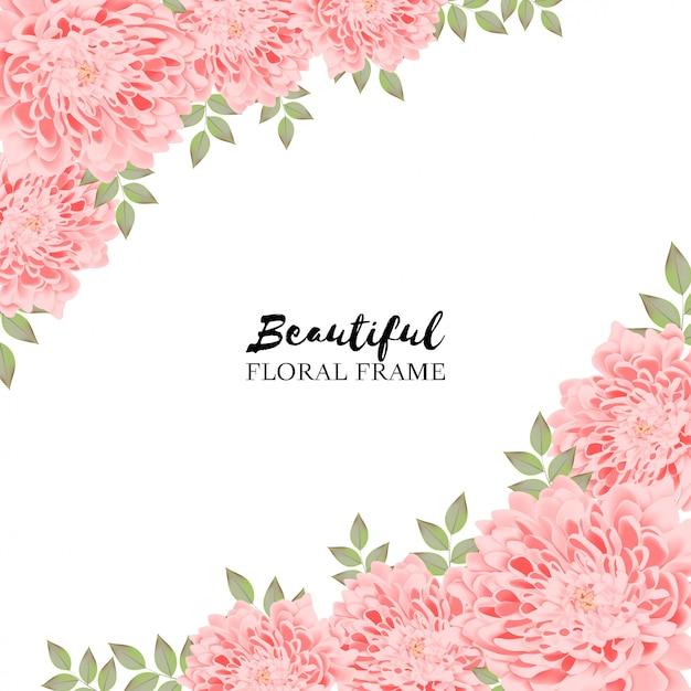 Beau Fond Floral Rose Vecteur Premium