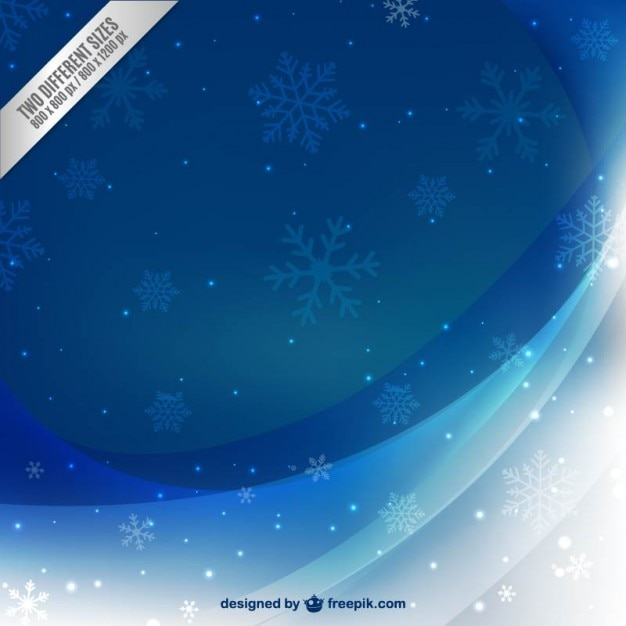 Beau fond en hiver avec des flocons de neige Vecteur gratuit