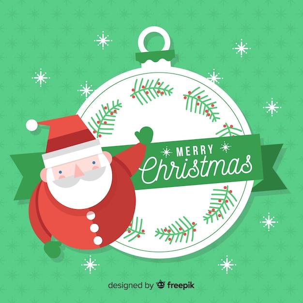 Beau Fond De Noël Avec Un Design Plat | Vecteur Gratuite