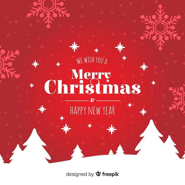 Beau Fond De Noël Dessiné à La Main Vecteur gratuit