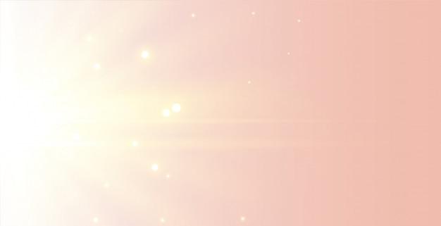 Beau Fond De Rayons Lumineux Doux Et élégant Vecteur gratuit