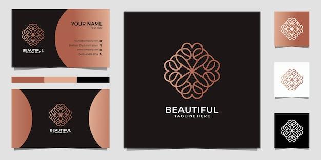 Beau Mandala D'art En Ligne, Peut être Utilisé Pour Le Spa, La Décoration, Le Yoga, Le Logo De La Mode Et La Carte De Visite Vecteur Premium