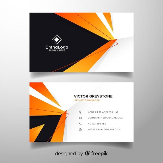 Beau modèle de carte de visite abstraite Vecteur gratuit
