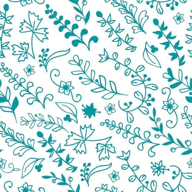 Beau modèle sans couture florale. elément de design ou carte d'invitation Vecteur gratuit
