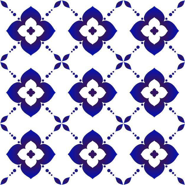 Beau motif de batik Vecteur Premium