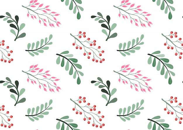 Beau motif floral Vecteur Premium