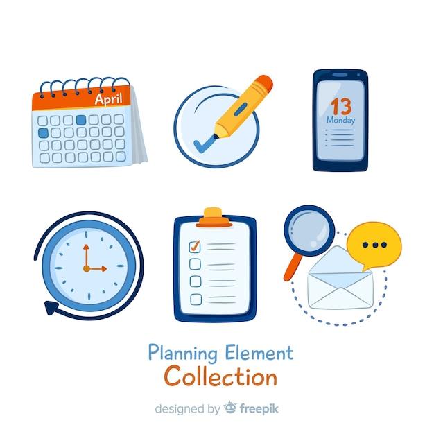 Beau Pack D'éléments De Planification Vecteur gratuit