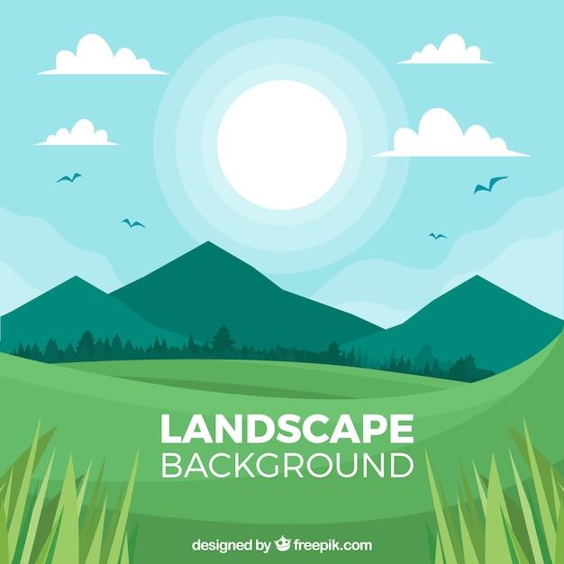 Beau paysage de la nature Vecteur gratuit