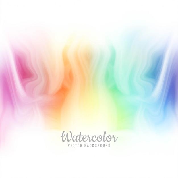 Beau vecteur de fond aquarelle coloré Vecteur Premium