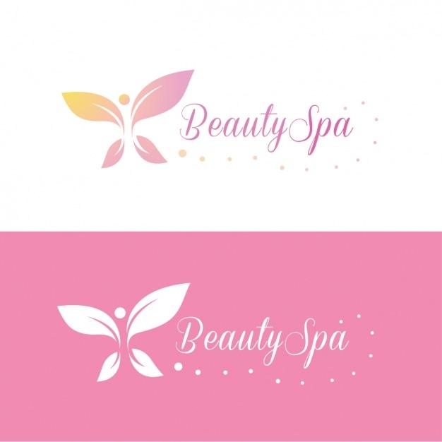 Beauty spa logo modèle Vecteur gratuit