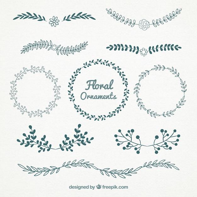 Beaux Graphismes Floraux Gratuits Vecteur gratuit