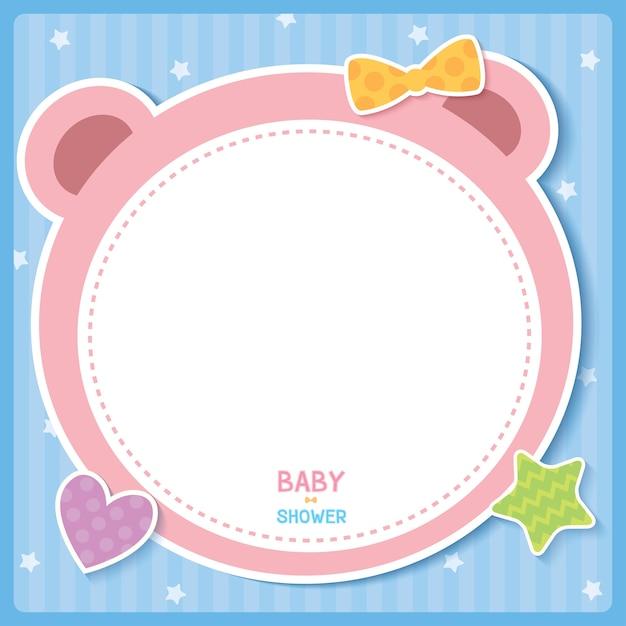 Bébé Ours Rose Vecteur Premium