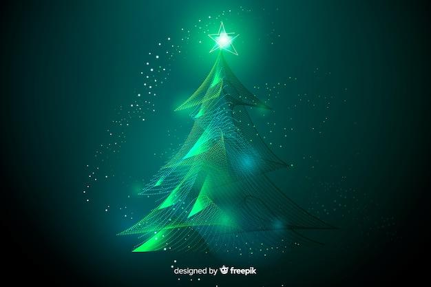Bel arbre de noël abstrait Vecteur gratuit
