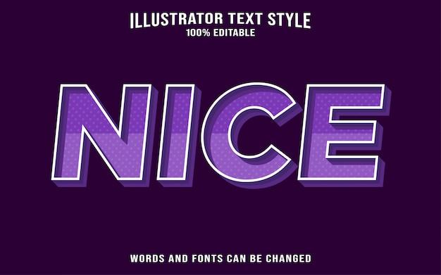 Bel Effet De Style De Texte Vecteur Premium