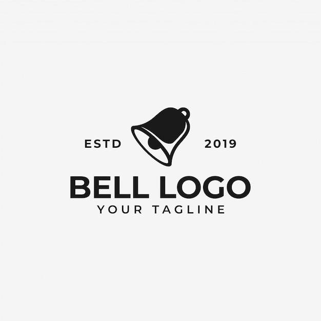 Bell, modèle de conception de logo de notification Vecteur Premium