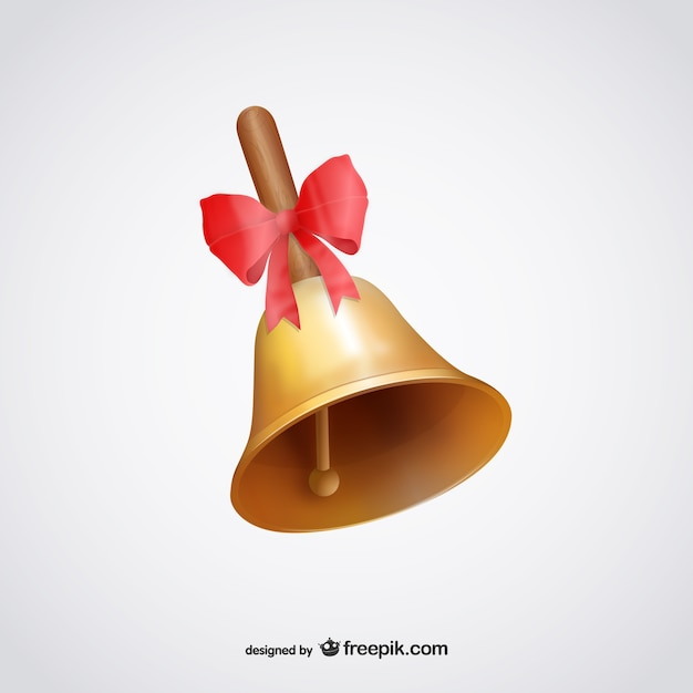 Bell ruban rouge illustration Vecteur gratuit