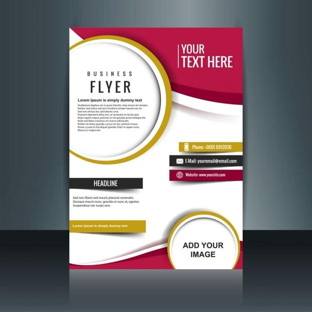 Belle brochure d'affaires Vecteur gratuit