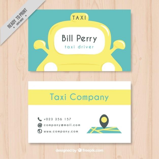 Belle carte de chauffeur de taxi Vecteur gratuit