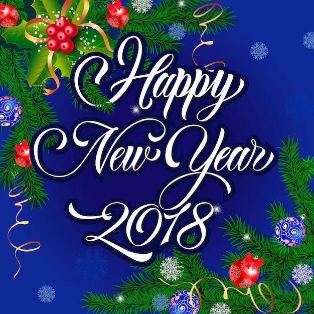 Favori Belle carte de voeux de nouvel an | Télécharger des Vecteurs  QS67