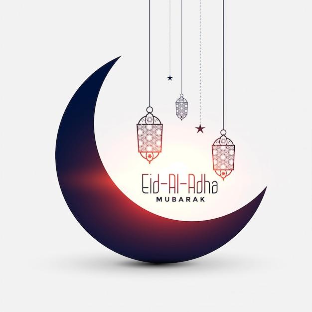 Belle Carte De Festival Eid Al Adha Bakrid Vecteur gratuit