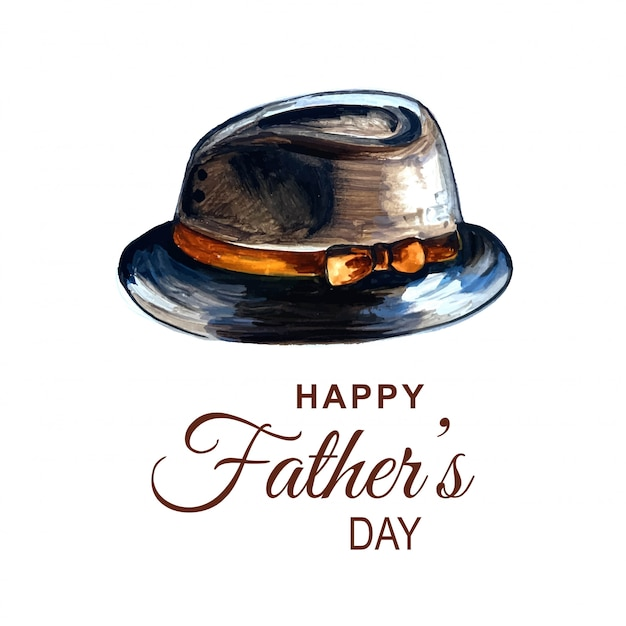 Belle Carte Pour La Fête Des Pères Heureuse Vecteur gratuit