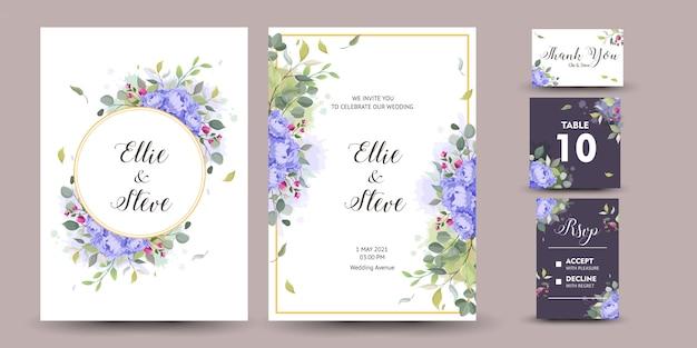 Belle Carte De Voeux Décorative Ou Invitation Avec Design Floral Vecteur Premium