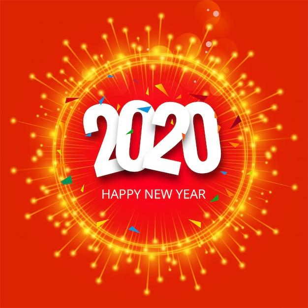 Belle Célébration 2020 Nouvel An Vecteur De Paillettes Vecteur gratuit