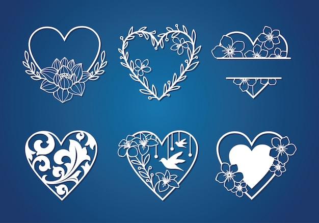 Belle Collection D'amour Monogram Vecteur Premium