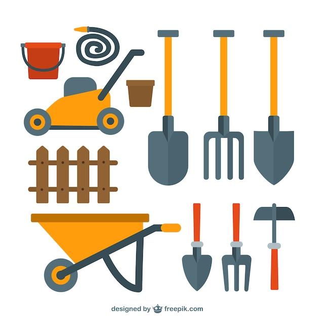 Belle collection d'outils de jardin  Télécharger des ...