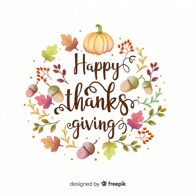 Belle composition pour le jour de thanksgiving Vecteur gratuit