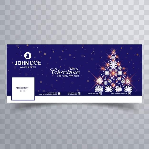 Belle Couverture Pour Arbre De Noël Vecteur gratuit