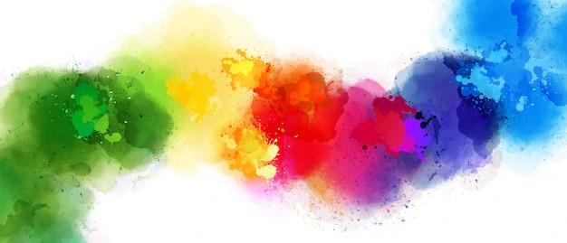 Belle éclaboussure de couleurs différentes Vecteur Premium