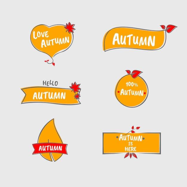 Belle étiquette d'automne Vecteur Premium