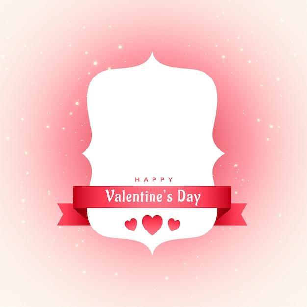 Belle étiquette de saint valentin avec espace de texte Vecteur gratuit