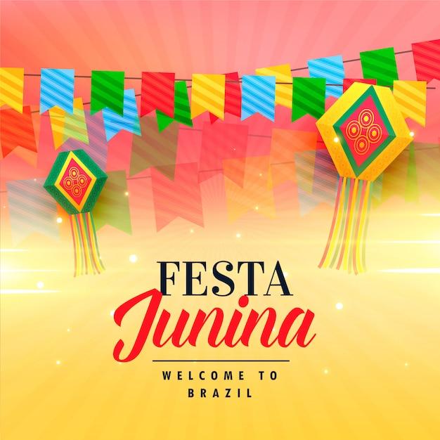 Belle fête pour festa junina Vecteur gratuit