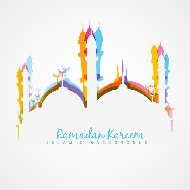 Belle Illustration Colorée De Ramadan Kareem Vecteur gratuit