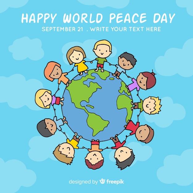 Belle journée de fond de la paix Vecteur gratuit