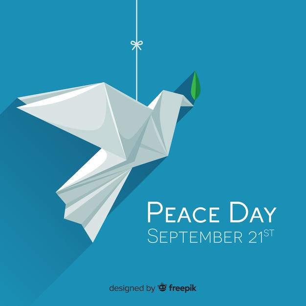Belle journée de paix Vecteur gratuit
