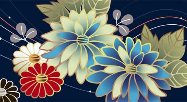 Belle ligne de fleurs fond abstrait t l charger des for Ligne de fleurs