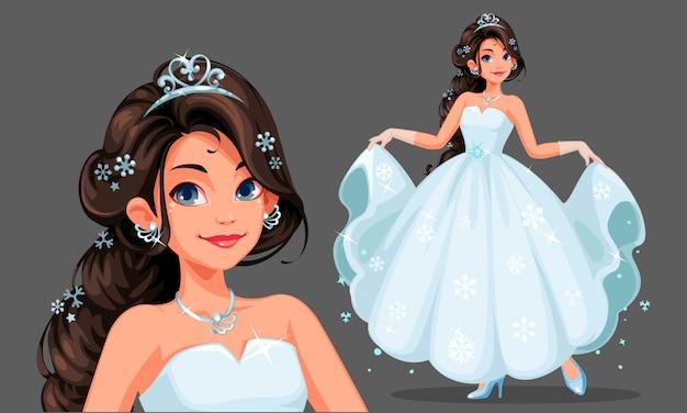 Belle princesse Vecteur Premium