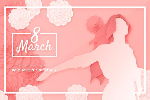 Belle Représentation De La Journée De La Femme Dans Un Style Papier Vecteur gratuit