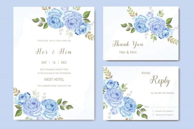 Belle rose vecteur pour invitation de mariage Vecteur Premium