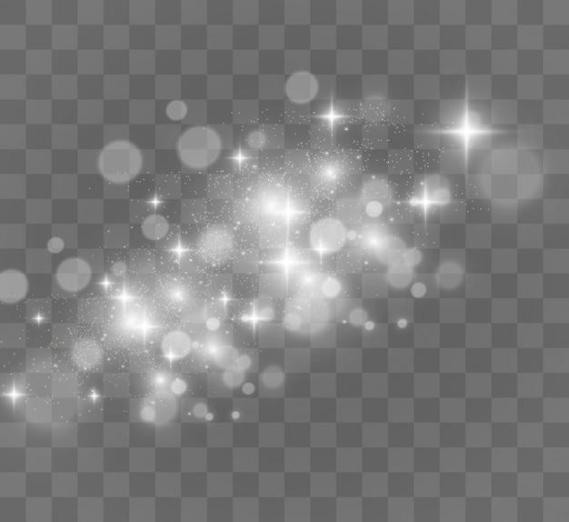 De Belles étincelles Brillent Avec Des Lumières Spéciales. Vecteur Premium