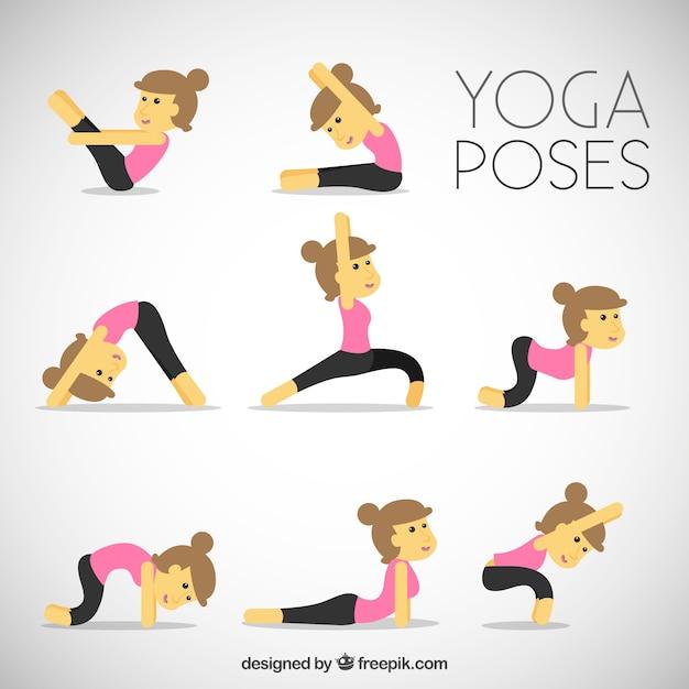 belles femme faisant du yoga exercices t l charger des vecteurs premium. Black Bedroom Furniture Sets. Home Design Ideas